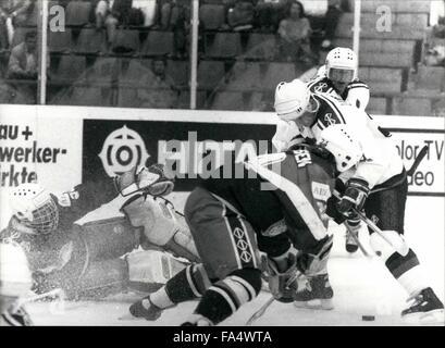 1970 - Ice Hockey world championships in Switzerland: The ice hockey championships took place in Bern/Switzerland - Stock Photo