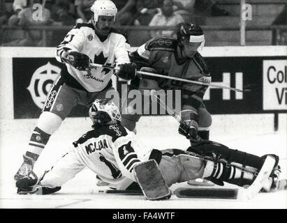 1970 - Ice Hockey World Championships in Switzerland: The ice hockey world championship tool place in Bern/Switzerland - Stock Photo