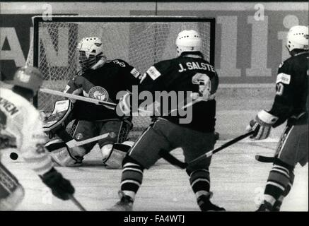 1970 - IceHockey - Worldchampionships in Switzerland: The IceHockey - Worldchampionships actually take place in - Stock Photo