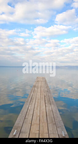 Bolesena Lake in the early afternoon - Stock Photo