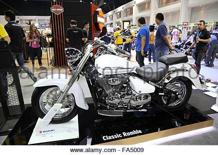 BANGKOK - December 11 : Suzuki Classic Rumble motorcycle on display at The Motor Expo 2015 on December 11, 2015 - Stock Photo