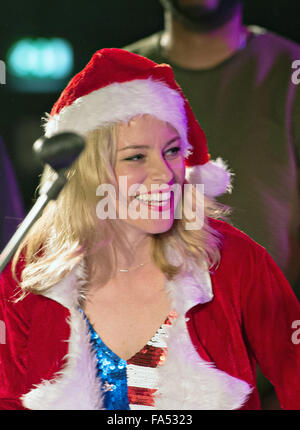 Actress Elizabeth Banks host a USO Christmas show for military personnel deployed to Ramstein Air Base December - Stock Photo