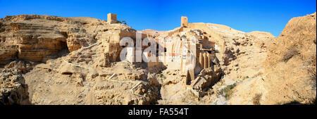 Holy Lavra of Saint Sabbas the Sanctified monastery, Palestine - Stock Photo