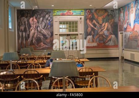 Orozco mural Dartmouth College Hanover NH - Stock Photo