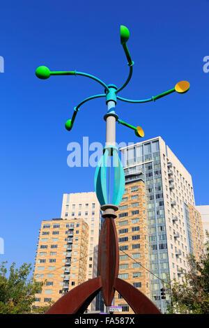 Sculpture by Donald Gerola, Providence, Rhode Island, USA - Stock Photo