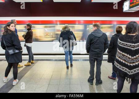 Hamburg Germany.  Hamburg U-Bahn  station - Stock Photo