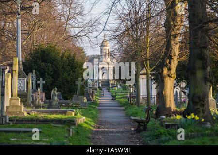 Brompton Cemetery, West Brompton, London, England, United Kingdom - Stock Photo