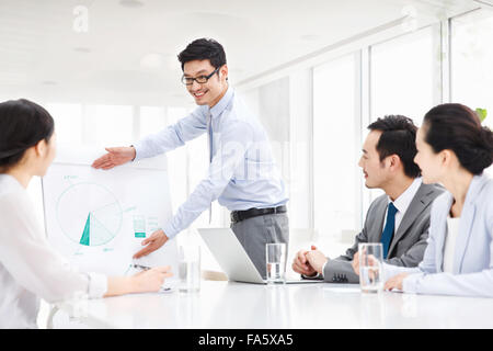 Business team meeting in conference room Stock Photo