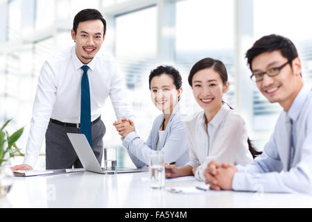 Business people meeting in the conference room - Stock Photo