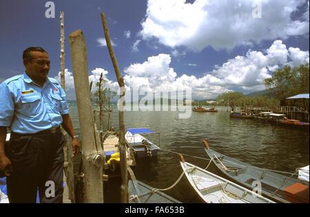 Fishing boats, Kuah, Langkawi Island, Kedah, Malaysia. Langkawi Kuah moored fishing boats - Stock Photo