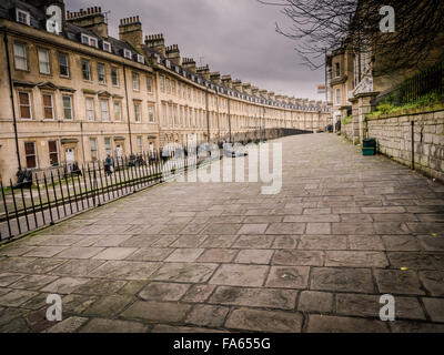 Street Scene, City of Bath, Somerset, - Stock Photo