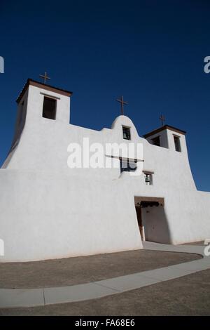 USA, New Mexico, Isleta Pueblo, San Agustin de la Isleta Mission, founded 1622 - Stock Photo