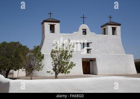 Isleta Pueblo, Saint Augustine Mission, originally built in 1612, New Mexico, USA - Stock Photo