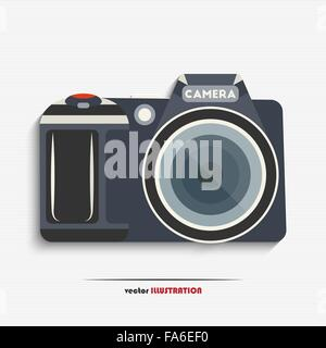 Vector illustration of digital SLR camera for your design - Stock Photo