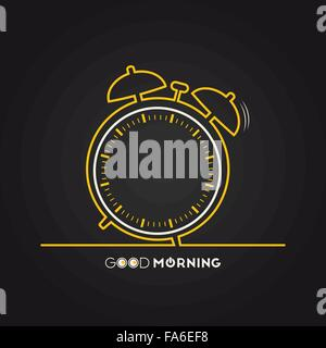 Vector illustration of alarm clock for your design - Stock Photo