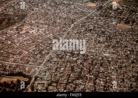 Aerial view of residential Stone Town, Zanzibar, Tanzania. - Stock Photo