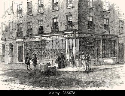 Waithman's shop in Fleet Street; London, Alderman Robert Waithman, 1764-1833, Politician and Lord Mayor of London, - Stock Photo
