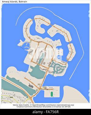 Amwaj islands Bahrain Country city island state location map Stock