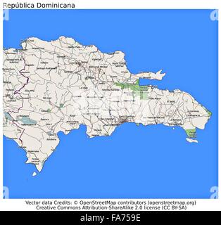 Dominican Republic country physiography map Stock Photo: 92173949 ...