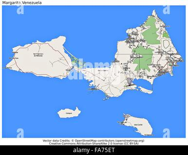 Venezuela map flag coat Stock Vector Art Illustration Vector