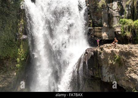 Tegenungan waterfall near Ubud, Bali, Indonesia - Stock Photo