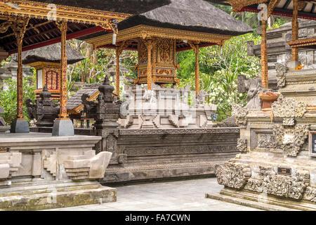 the Hindu water temple Tirta Empul near Ubud, Bali, Indonesia - Stock Photo