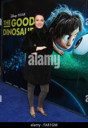 The UK Gala Screening of 'The Good Dinosaur' at Picturehouse Central - Arrivals  Featuring: Gizzi Erksine Where: - Stock Photo