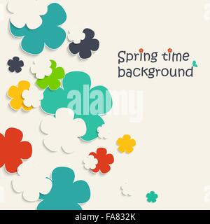 Vector illustration of spring background for your design - Stock Photo