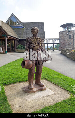 Tittesworth Reservoir water man sculpture in front of the Visitor Centre Leek Staffordshire England UK - Stock Photo