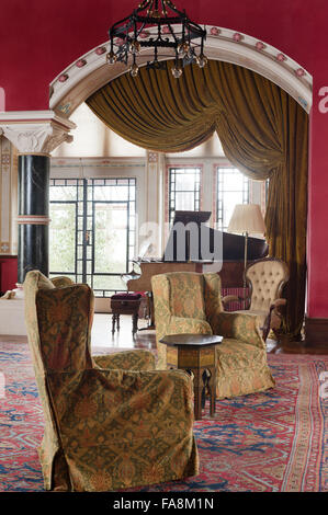 The Drawing Room At Knightshayes Court Devon Stock Photo