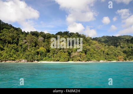 Beach in Tioman island Malaysia - Stock Photo