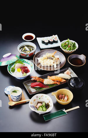 Assorted Japanese dishes - Stock Photo