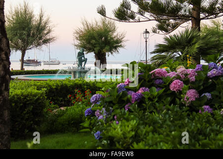 Picturesque fountain in the tourist centre of Marciana Marina on Elba Island, Italy - Stock Photo