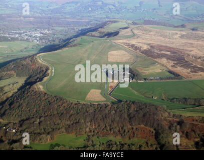 aerial view of Camphill gliding site near Buxton, Derbyshire, UK - Stock Photo