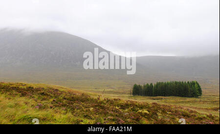 Scottish landscape in the highlands of Scotland during Autumn. - Stock Photo