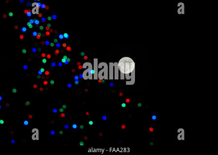 Full Moon on Christmas eve morning halifax uk Stock Photo, Royalty ...