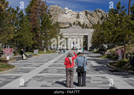 Mount Rushmore National Memorial, South Dakota - Stock Photo