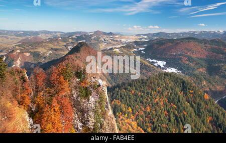 Pieniny Mountains, view from Trzy Korony Peak, Poland - Stock Photo