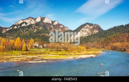 Pieniny Mountains - Dunajec River and Trzy Korony Peak, Poland - Stock Photo