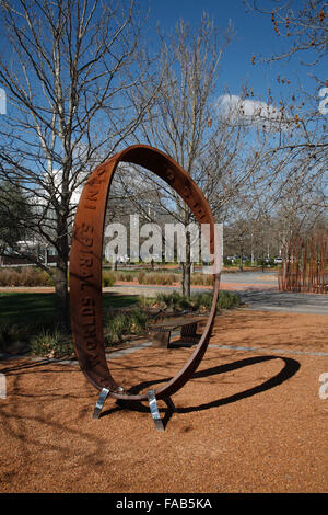 Möbius strip geometry has been studied by mathematicians since the 1930s Canberra Australia - Stock Photo