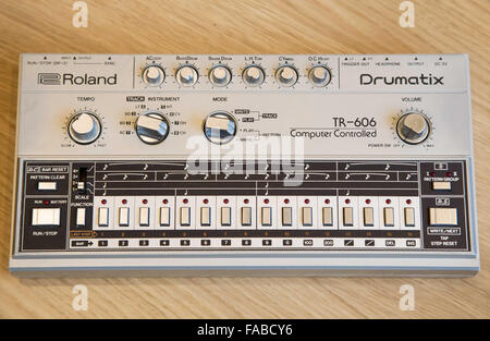 A Roland 606 drum machine - Stock Photo