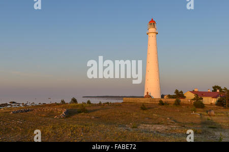 Tahkuna lighthouse, Island of Hiiumaa, Estonia - Stock Photo