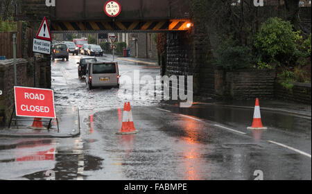 Flooding in the Ribble Valley, Lancashire, north west England, Dec 2015 - Stock Photo