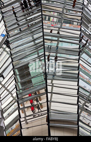 BERLIN, GERMANY - NOVEMBER 10, 2013: Glass dome on the top of the Building of the German Parliament (Reichstag). - Stock Photo