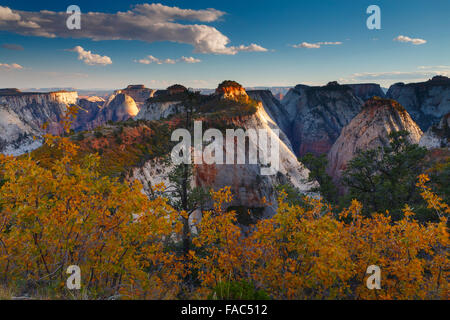 From the West Rim Trail, Zion National Park, Utah. - Stock Photo