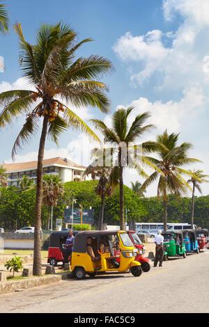 Sri Lanka - Colombo, tuk tuk taxi, typical transport - Stock Photo