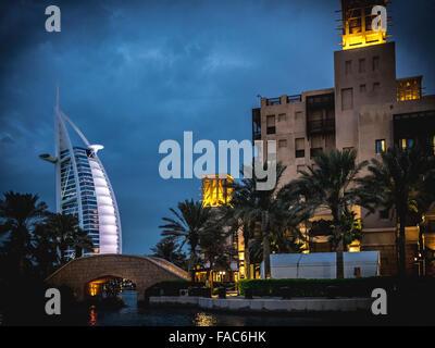 Madinat Jumeirah the Arabian Resort & Souk - Dubai, A Unique Shopping, Dining and Entertainment Destination at Madinat - Stock Photo
