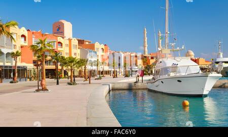 Egypt - Hurghada city, Marina - Stock Photo