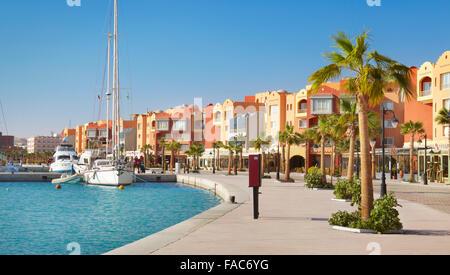 Egypt - Hurghada cityscape, Marina - Stock Photo