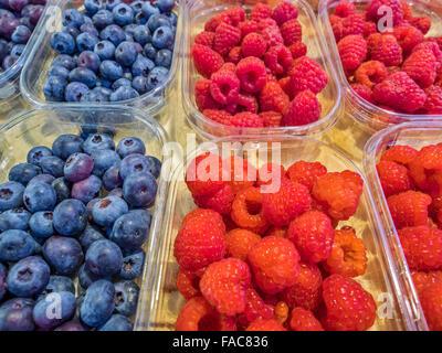 Produce at Mercato di Rialto outdoor market in Venice, Italy - Stock Photo